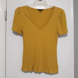 Mustard yellow Express top